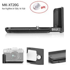 Image 1 - Meike XT20G אלומיניום סגסוגת יד אחיזה שחרור מהיר צלחת סוגר L Fujifilm X T20 X T10 XT 20 מצלמה