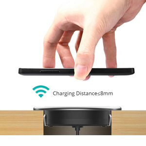 Image 4 - Fast Wireless Charger For iPhone11 Pro Max Xs XR X 8 Plus Phone Charger Furniture Office Desk Mounted Embedded Charging Pad