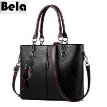 BelaBolso Vintage Tote Bag For Women Leather Handbag Large Capacity Shoulder Bag Women Top Handle Crossbdoy Bags Female HMB647