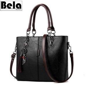 Image 1 - BelaBolso Vintage Tote Bag Per Le Donne Borsa di Cuoio di Grande Capienza del Sacchetto di Spalla Delle Donne Top Handle Crossbdoy Borse Femminile HMB647