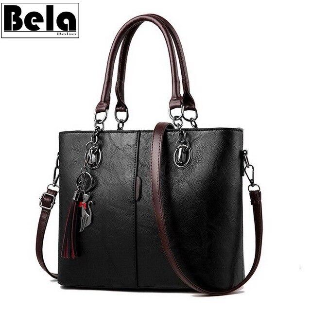 BelaBolso Vintage Tote Bag Per Le Donne Borsa di Cuoio di Grande Capienza del Sacchetto di Spalla Delle Donne Top Handle Crossbdoy Borse Femminile HMB647