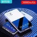 30000mAh güç banka Ultra ince taşınabilir güç banka şarj LED dijital ekran harici pil telefon için el feneri ile