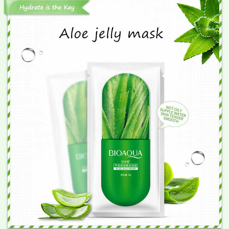 1 Pcs Jelly Sleep NO WASH Aloe Mask Face Mask Replenishment Moisturizing น้ำมันควบคุมรูขุมขน Facial Care