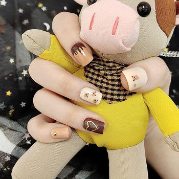 24 sztuk sztuczne paznokcie sztuczne paznokcie sztuczne fałszywe krótkie paznokcie paznokci pełna pokrywa naturalne sztuczne paznokcie Salon pielęgnacji paznokci Art DIY dla kobiet DW tanie i dobre opinie ACRDDK CN (pochodzenie) Palec short 24pcs 292897 Z tworzywa sztucznego normal Pełne końcówki paznokci