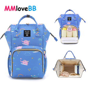 Image 2 - MMloveBB Fashion Maternity Diaper bag For Baby Large Capacity Nappy Bag Travel Mommy Bag For Baby Care Backpack For Mom