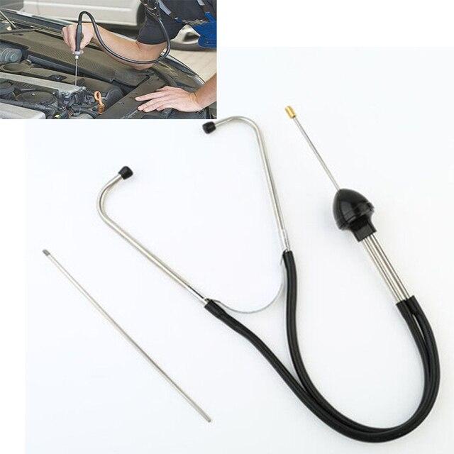 Estetoscopio de cilindro de mecánica de coche, bloque de motor de coche, herramientas auditivas automotrices de diagnóstico, acero antigolpes