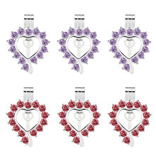 10pcs Bright Silver Heart Shape Pearl Cage Locket จี้น้ำมันหอมระ(China)