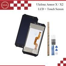 Ocolor Ulefone için zırh X2 LCD ekran ve dokunmatik ekran 5.5 inç için cep telefonu aksesuarları Ulefone zırh X + araçları + yapıştırıcı