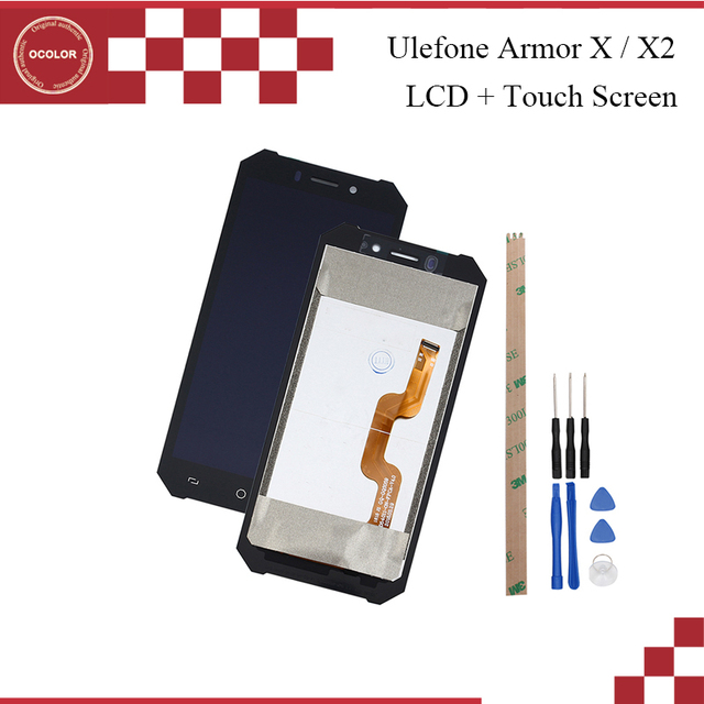 ocolor For Ulefone Armor X2 LCD Display and Touch Screen 5.5 inch Mobile Phone Accessories For Ulefone Armor X +Tools +Adhesive