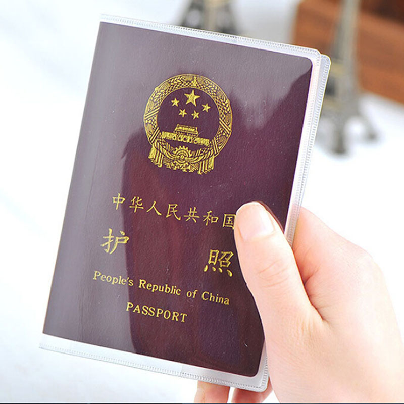 1PC Clear Transparent Passport Cover Holder Case Organizer ID Card Travel Protector Document Folder