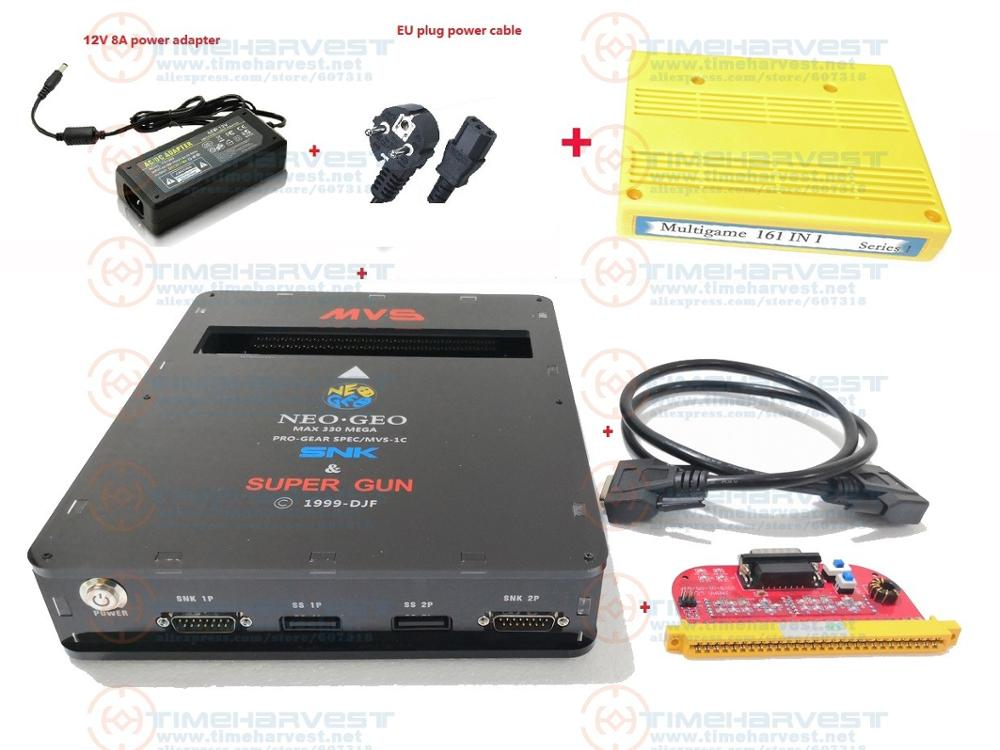 NEW VERSION 2 IN 1 <font><b>CBOX</b></font> <font><b>MVS</b></font> SNK NEOGEO CMVS + JAMMA SUPER GUN 2 function with 161 in 1 Game Cartridge play with SNK or SS joypad image