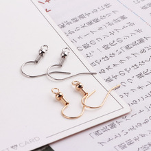 50pcs diy basic earring accessories copper plated 18k genuine gold with pearl spring earring material wholesale