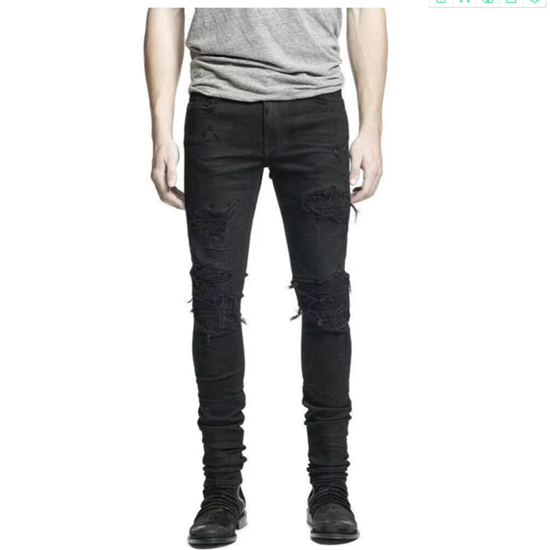 Hot Sale Mens Designer Jeans thin stretch slim jeans men 39 s straight pants Slim Cowboy Famous classic jeans Size 29 42 in Jeans from Men 39 s Clothing