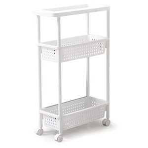 Космическая кухонная полка для хранения, полка, тонкая скользящая башня, подвижная сборка, утолщенная Пластиковая Полка для ванной комнаты,...