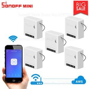 Image 1 - Itead 5/10/20 pièces Sonoff MINI bricolage impulsion/bord/Mode suivant Wifi commutateur intelligent prise en charge commutateur externe fonctionne avec Alexa IFTTT