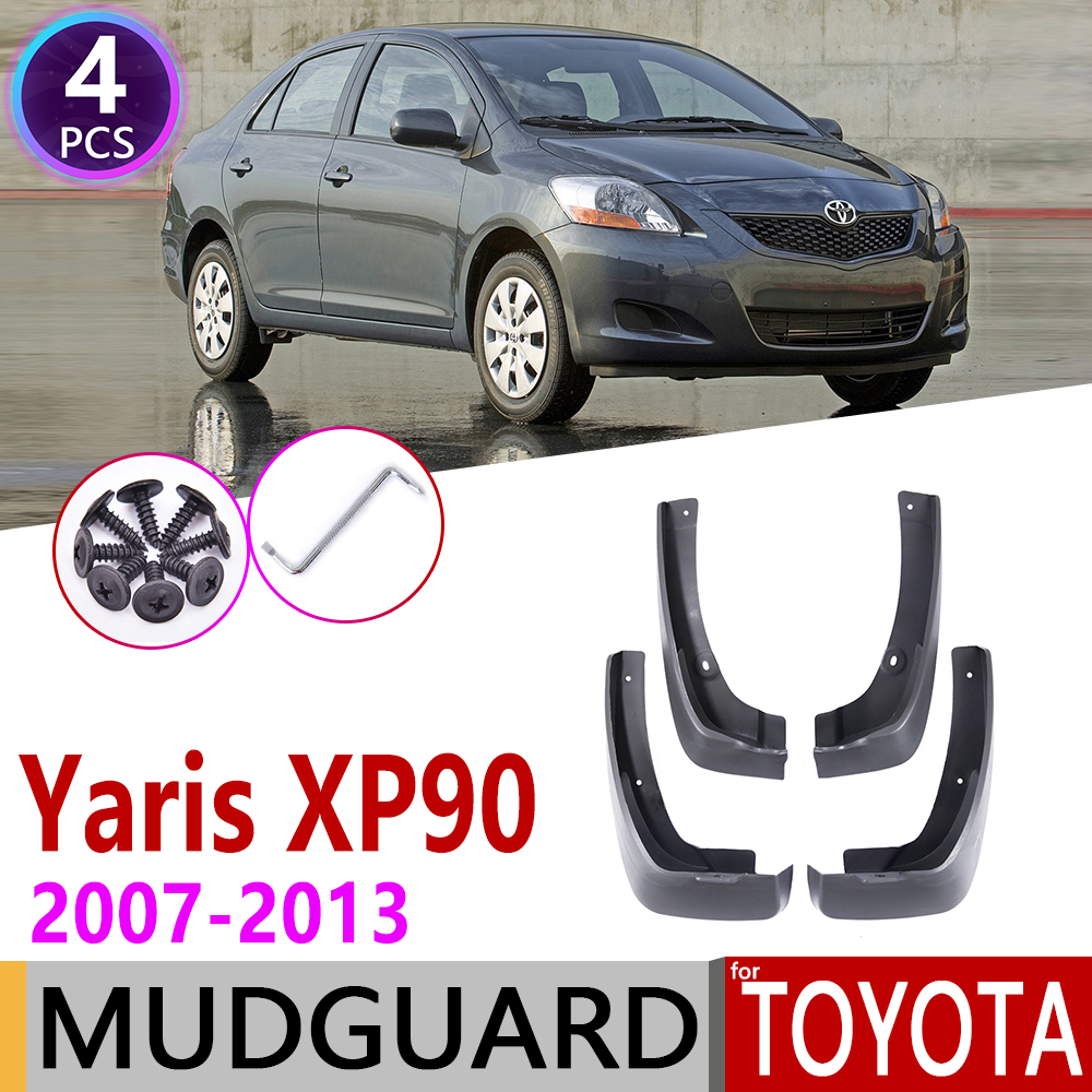Mudflap For Toyota Vios Yaris Limo XP90 Saloon Sedan 2007~2013 Fender Mud Guard Splash Flaps Mudguard Accessories 2008 2009 2010