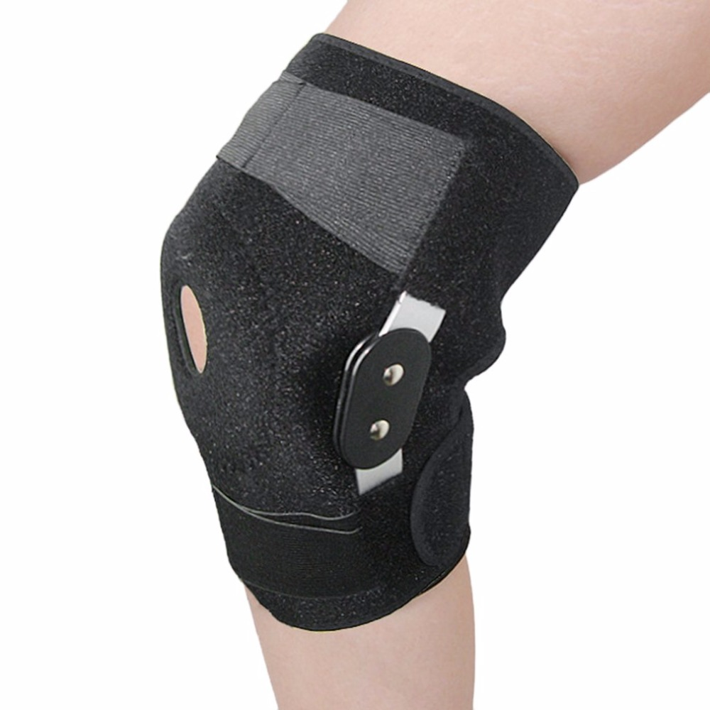 Adjustable Medical Hinged Knee Orthosis Brace Support Ligament <font><b>Sport</b></font> <font><b>Injury</b></font> Orthopedic Splint <font><b>Sports</b></font> Knee Pads Dropshipping image