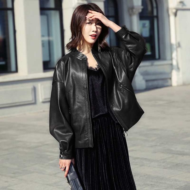 Leather Real Jacket 2020 Spring Autumn Jacket Women 100% Genuine Sheepskin Coat Female Bomber Jackets Chaqueta Mujer My S