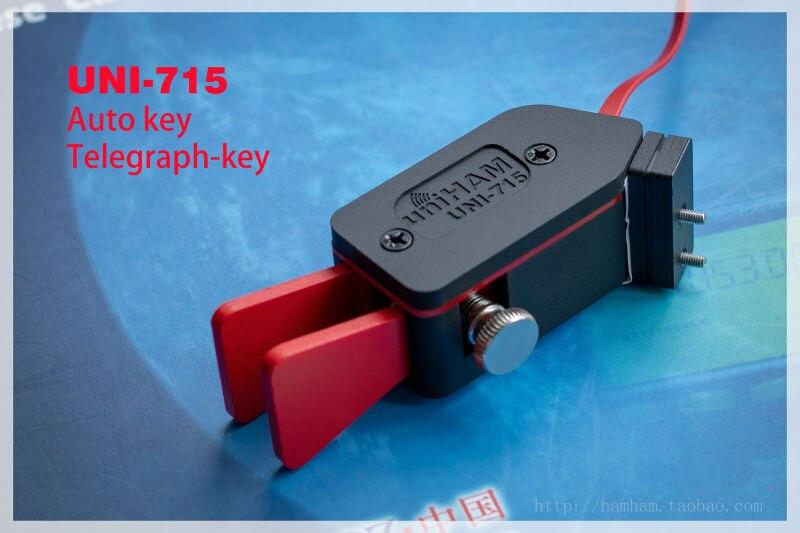 Livraison gratuite UNI -715 clé à palette automatique Keyer CW Morse Code pour jambon RADIO YAESU FT-817 818 main droite ou main gauche