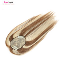 Envy Look real human hair 150 density Toppers for women Topper top human hair pieces 10 inches Mono Clip in hair hairpiece(China)