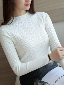 Sweater Cultivate Knit Render Autumn Word Garment in Upper Dress Morality Elastic New-Product