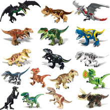 Educational puzzle building blocks dinosaur DIY assembled brick characters dinosaur pterosaur raptor toy children gift children non toxic wooden animal jigsaw puzzle 3d dinosaur diy assembled toy children educational toys birthday gift