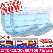 10/50/100/200 pces máscara descartável mondkapjes capa 3 camadas filtro de poeira mondkapjes-capa protetora completa mascarillas