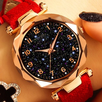 Casual Romantic Starry Sky Watches For Women Fashion Leather Band Quartz Wrist Watch Women Watches Ladies Clock Relogio Feminino relogio feminino children watches fashion casual cartoon girl boy students watch mickey mouse women leather quartz wrist watches