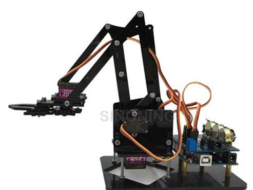 FREE SHIPPING DIY Acrylic robot arm robot claw arduino kit 4DOF learn kit