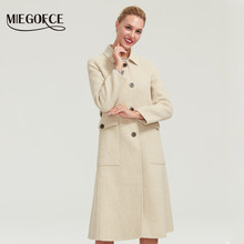 MIEGOFCE 2019 Women's Double-faced cashmerecoat winter long new design Hollywood warm x-long oversize imitation cashmere coat(China)