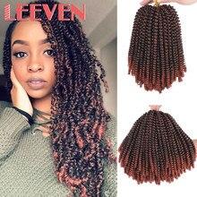 Leeven 8 cal puszyste wiosna Twist szydełkowe włosy szydełkowe warkocze syntetyczne czarny brązowy warkocz z włosów Ombre 613 włosy blond