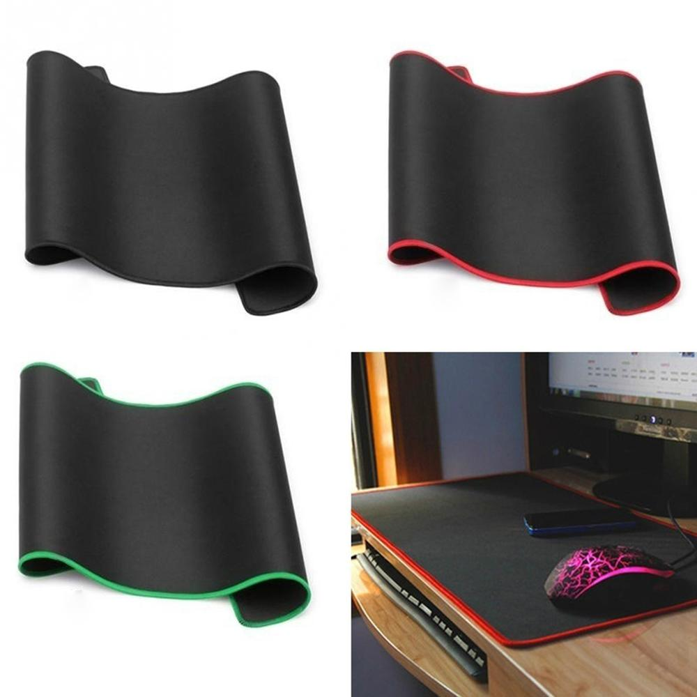 1 Non Slip Wear Resistant Computer Notebook Soft Edge Seamed Mouse Pad Office Rubber Fabric Mat 180*220*2mm,200*240*2mm