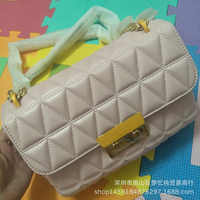 2018 New Style Edge Lattice Embroidery Sheepskin Cool Fashion Korean Wave Europe And America-Style Practical Bag with Chain