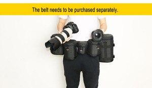 Image 4 - Kalın güçlü naylon yastıklı kamera su geçirmez Lens çantası çantası koruyun kılıf kemer Canon Nikon SONY için Sigma lensler