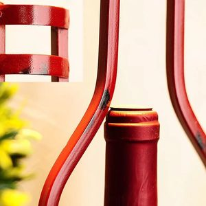 Image 5 - クリエイティブヨーロッパのレトロな工業用スタイル錬鉄製のワインラック壁掛けヨーロッパシンプルさシンプルで耐久性のある家の装飾