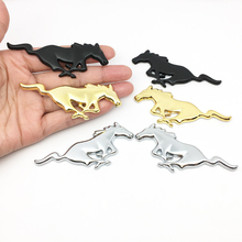 Car styling 2pcs 3D metal Running Horse Emblem Badge Car Sticker For Ford Mustang Shelby GT Rear Trunk car Decoration цена и фото
