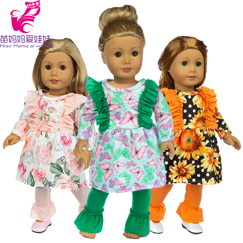 18 Inch Doll Clothes Set Fit for 43cm Reborn Baby Girl Wear