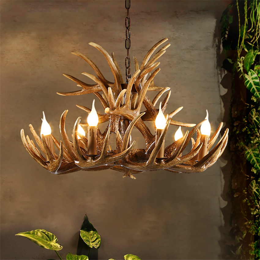 Nordic LED Chandelire Pendant Lights Lighting Hanglamp Industrial Buck Deer Horn Antler Bedroom Living Room Kitchen Fixtures