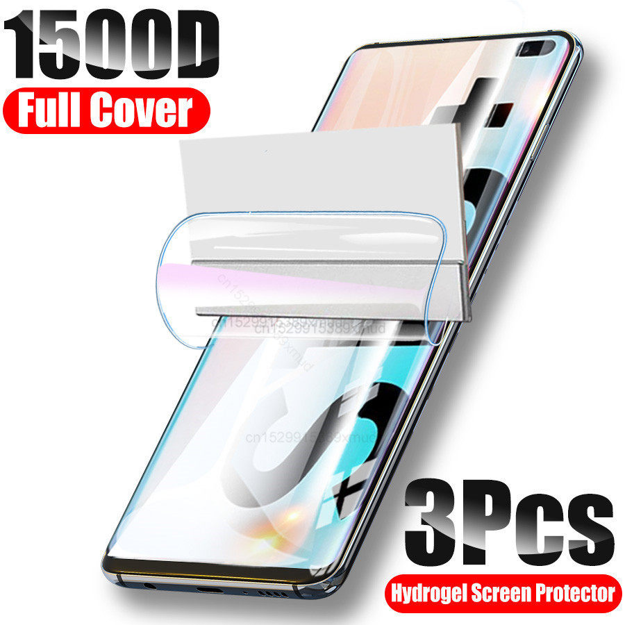 1500D Full Cover Screen Protector For Samsung S10 S20 S9 S8 Plus Hydrogel Film For Samsung A51 Note 8 9 10 Plus Film Not Glass