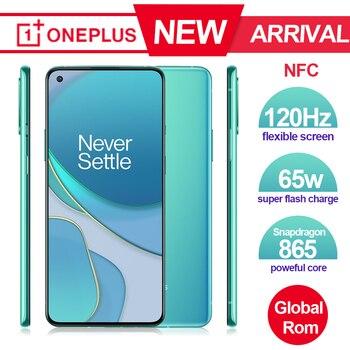 Marca nuevo Oneplus 8 T 8 T SmartPhone 120Hz líquido AMOLED pantalla Snapdragon 865 Octa Core 65W Warp a uno de 8 T teléfono móvil