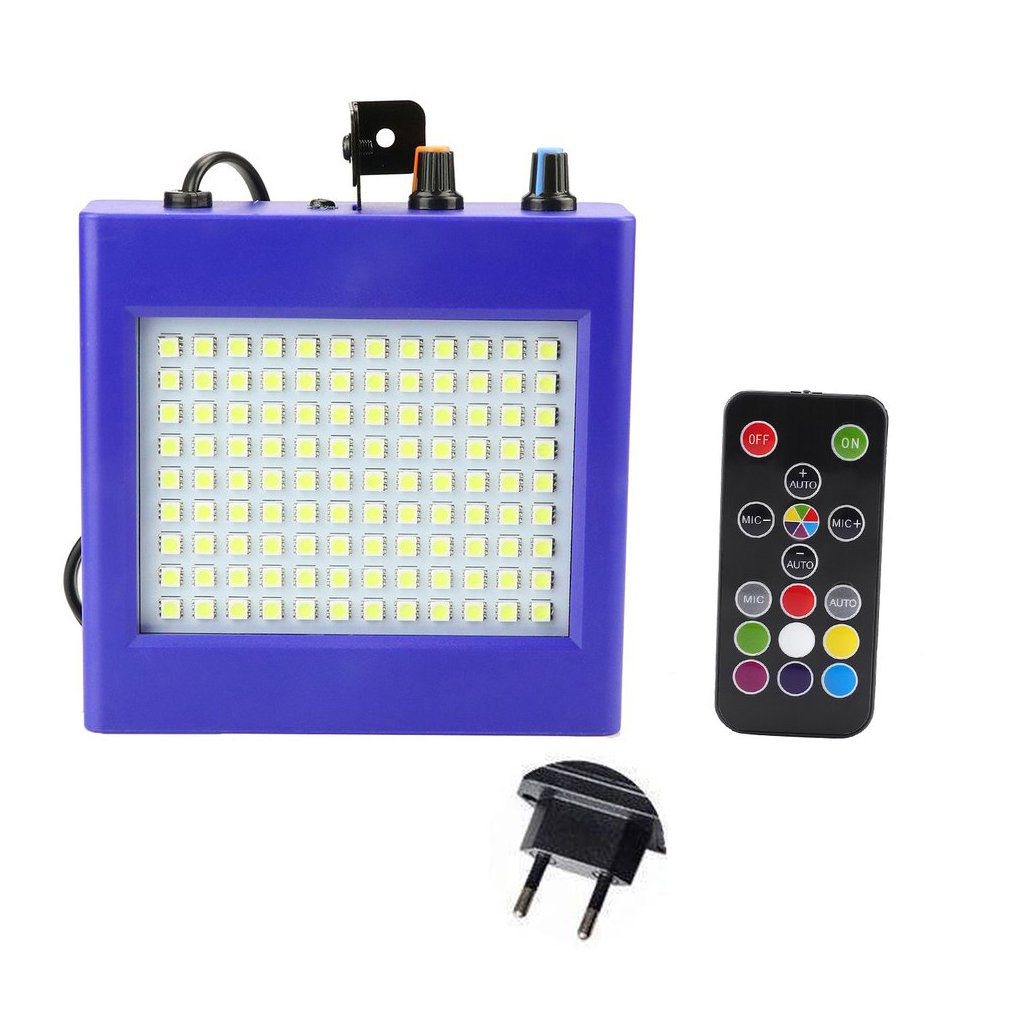 ICOCO 25W LED Stage Lights 108 Patch Strobe Lights Mini Sound Control Lighting Special Effects Flash Lamp For Bar KTV Ballroom
