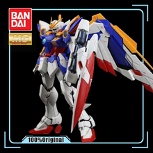 BANDAI MG 1/100, modelo Wing Gundam Ver. Ka Kaart version Vliegende Vleugel Gemonteerd Tot, figuras de acción de juguete