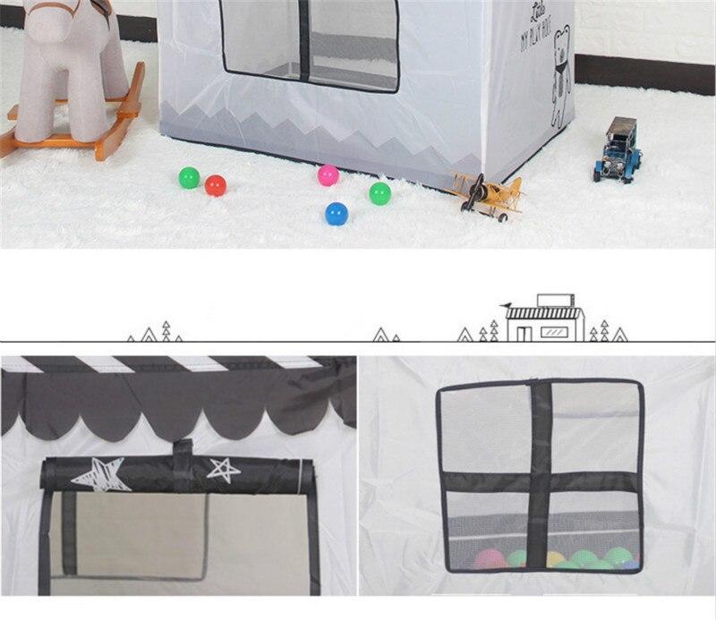 Interior ao ar livre pequena tenda casa