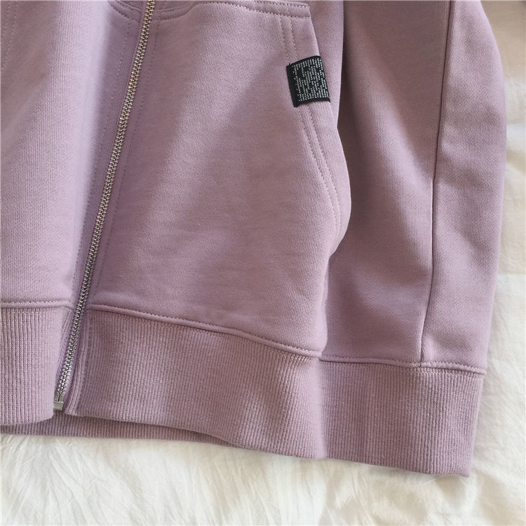 H62c99e4f52e849f78a4786e0f8ec3e50R Harajuku with hat hoodies women zipper kangaroo pocket casual loose solid color sweatshirt female 2020 fashion new female s