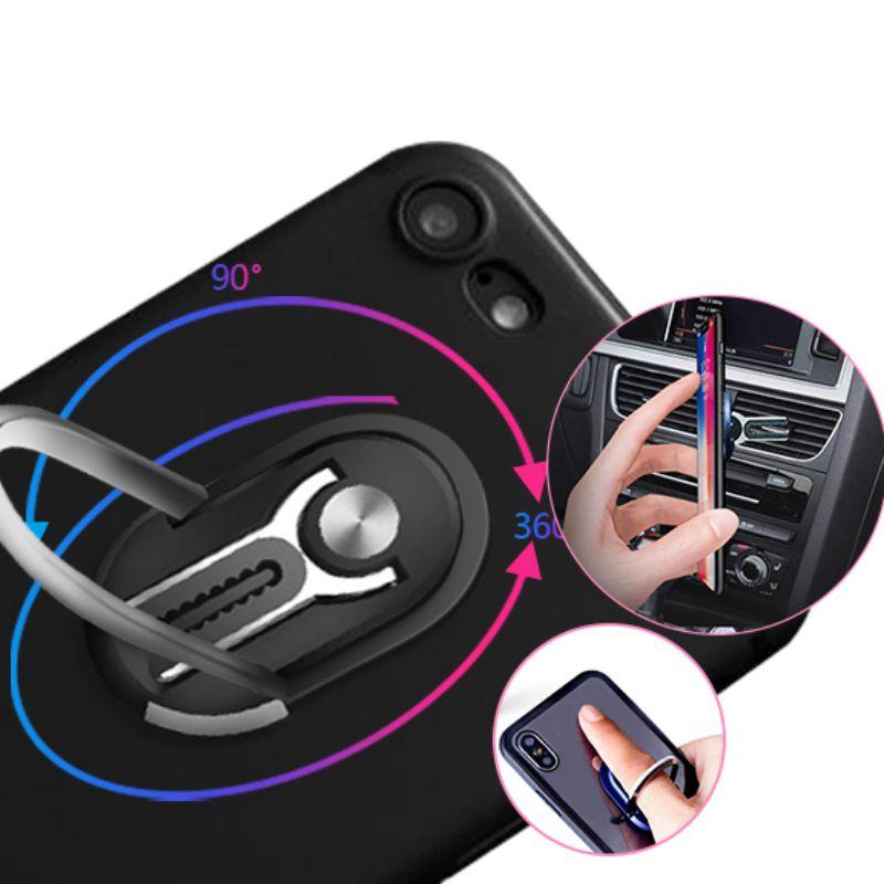 Multipurpose Mobile Phone Holder Rotation Finger Ring Magnetic Phone Holder Bracket 360 Degree Car Air Vent Grip Mount Stand