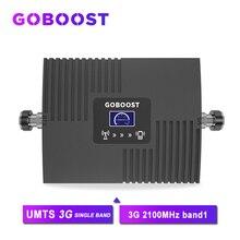 Goboost celular repetidor de sinal umts 2100mhz rede telefones celulares impulsionador de sinal 3g amplificador de comunicação internet amplificador *