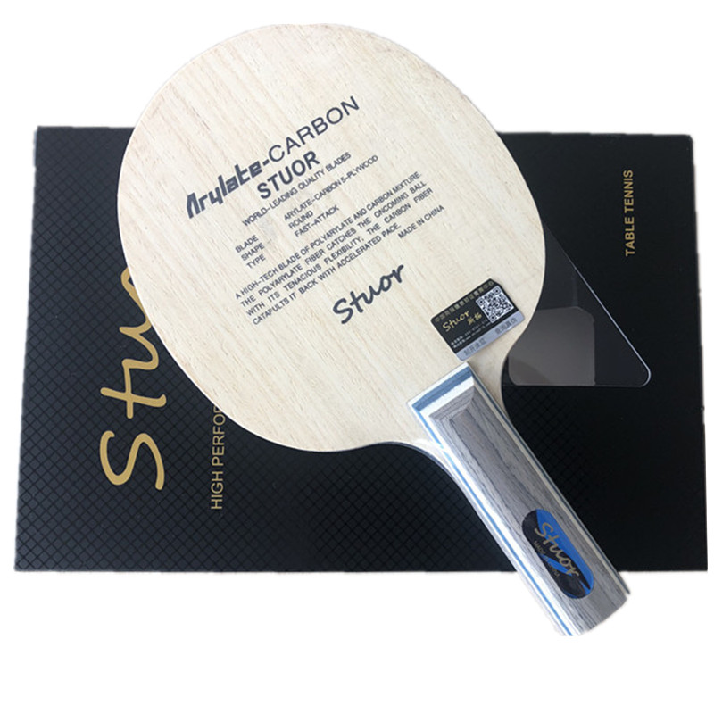 Stuor 7Ply Arylate Carbon Fiber Table Tennis Blade ST Grip Ping Pong Racket Blade Table Tennis Accessories Table Tennis Bat