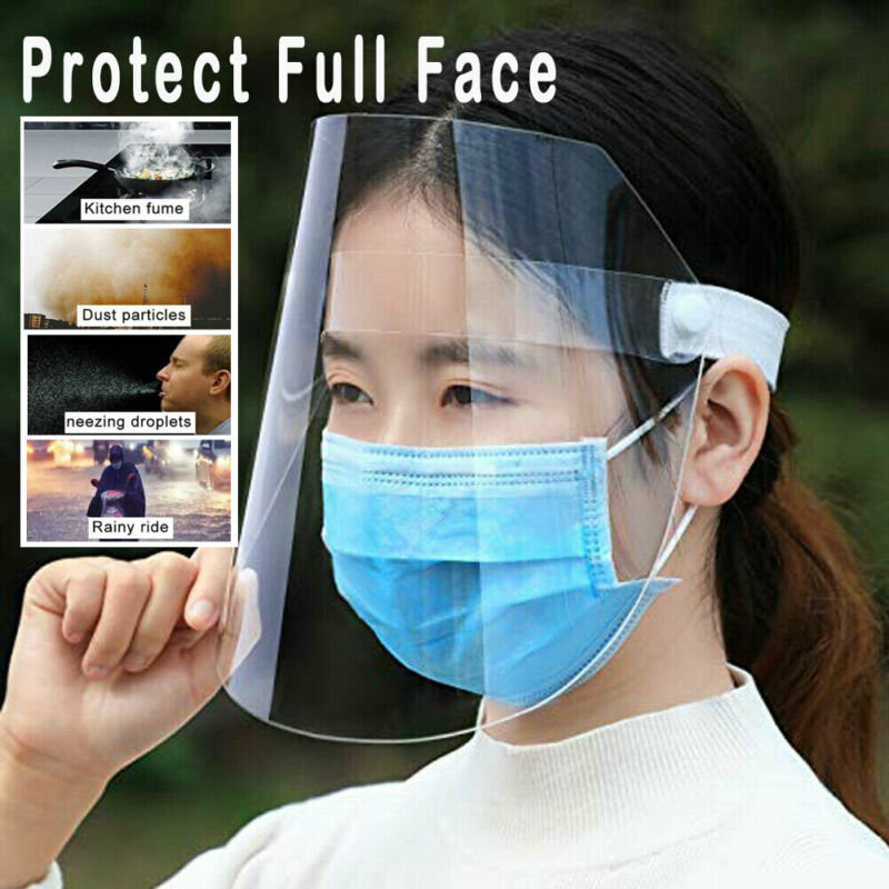 A Anti Droplet Dust-proof Protect Face Covering Hat Visor Shield Transparent Hot Sale Caps
