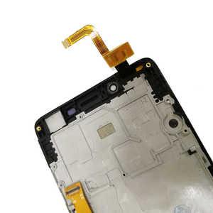 """Image 5 - 5.0 """"LCD עם מסגרת עבור Lenovo A6010 6010 מלא LCD תצוגת מסך מגע חיישן Digitizer עצרת החלפת A6010 תצוגה"""