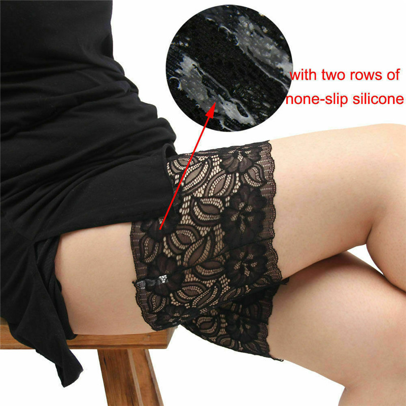 1 Piece Garters Leg Warmers Thigh Socks Fashion Foot Care Tool  Skid-proof Lace Women Female Cuff Accessory Anti-skid Thigh